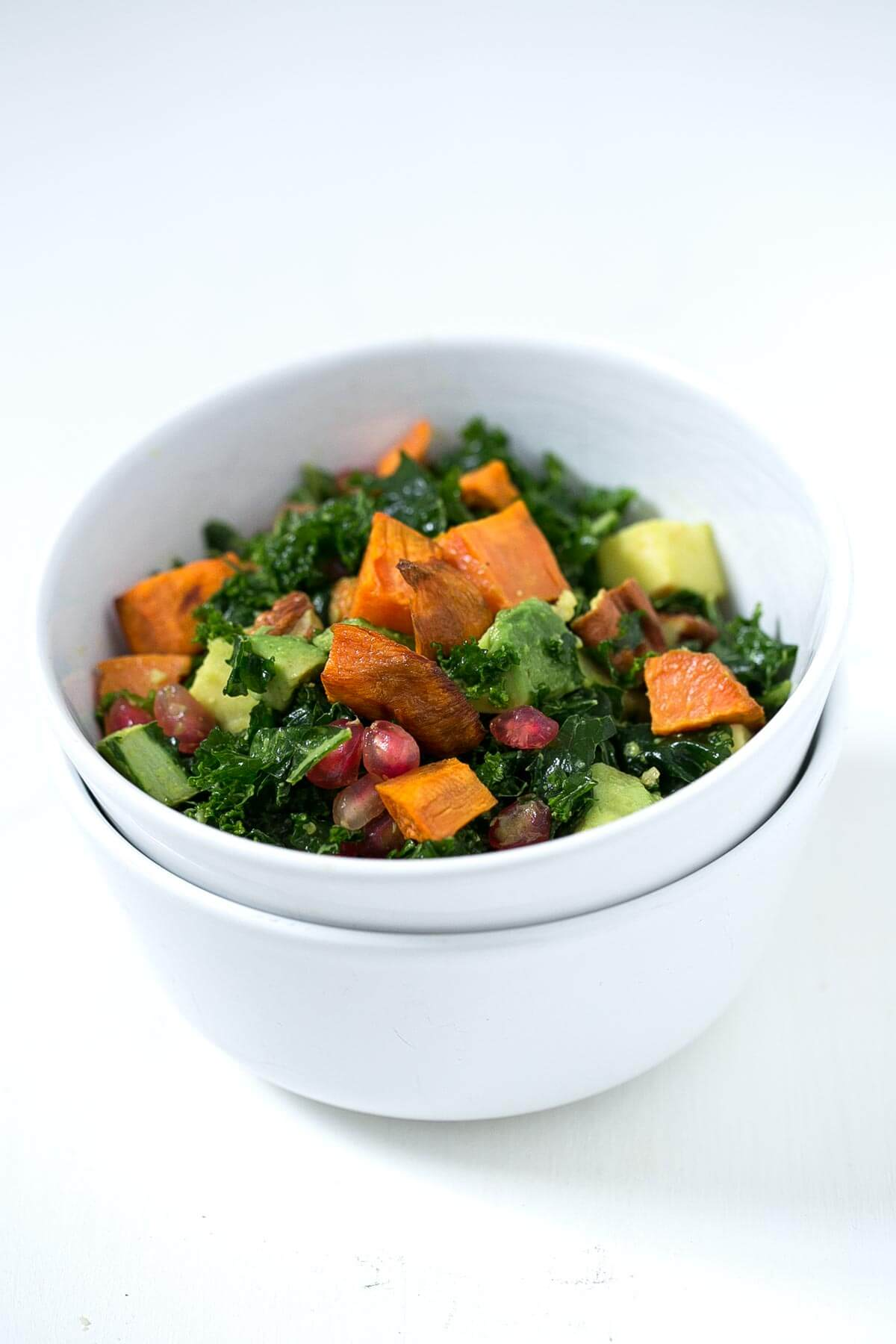 Kale Salad with Tahini and Turmeric Dressing. - Kale salads are perfect for eating outside the home because they hold up very well; in fact, they are more prosperous when the hours go by.