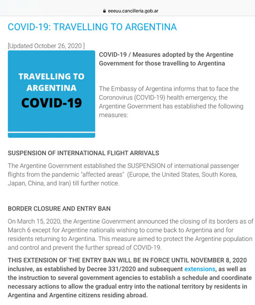 Hmm, not going to let us in Argentina for the solar eclipse (Source: eeeuu.cancillera.gov.ar)