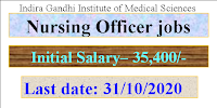 Nursing Officer jobs in Indira Gandhi Institute of Medical Sciences