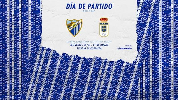 Cómo y dónde ver el Málaga - Oviedo de Copa