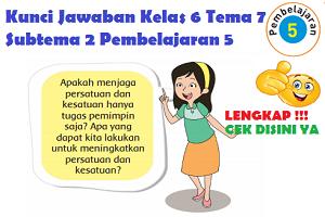 Kunci Jawaban Kelas 6 Tema 7 Subtema 2 Pembelajaran 5 www.simplenews.me
