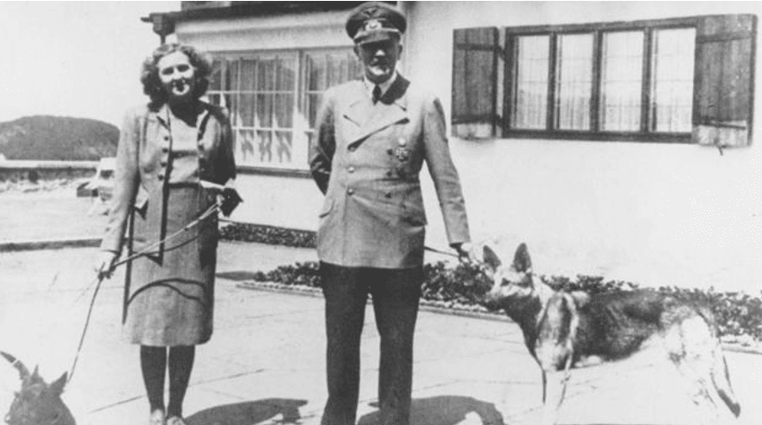 Hitler and Eva Braun were married on April 29, 1945, the day before they died.