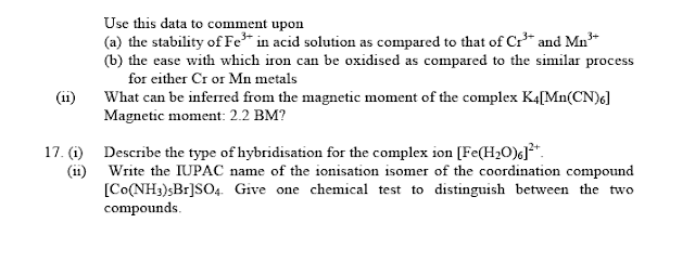 CBSE Sample paper 3  chemistry for class 12,free download in pdf,study material for class 12 chemistry,