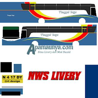 Livery bus titanium trisakti tunggal daya