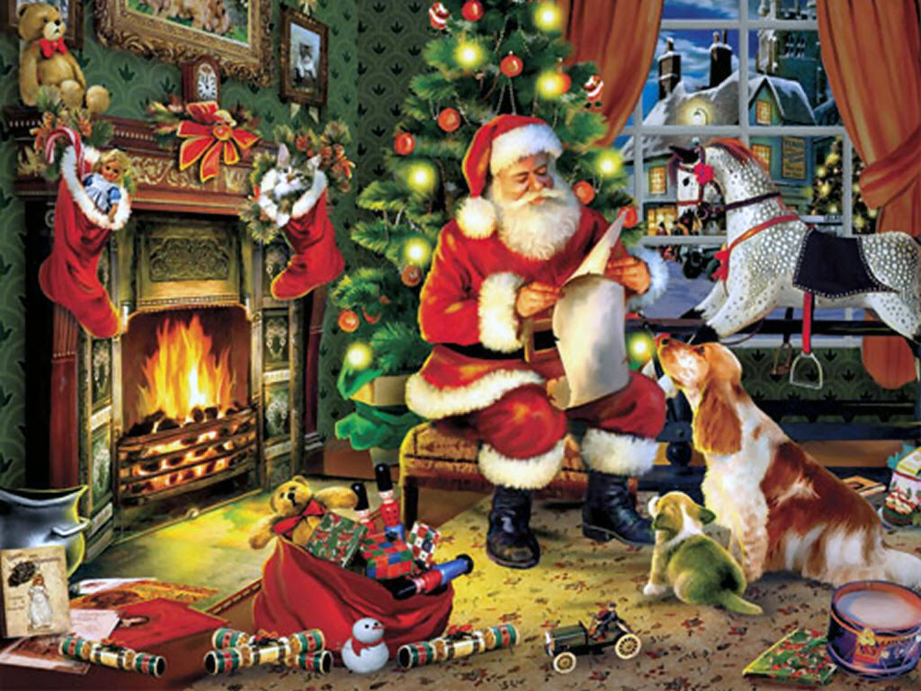 Santa-claus-checking-the-gift-checklist-twice-dog-puppy-kitten-watching-1024x768.jpg