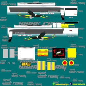 Livery Garuda Mas Euroliner