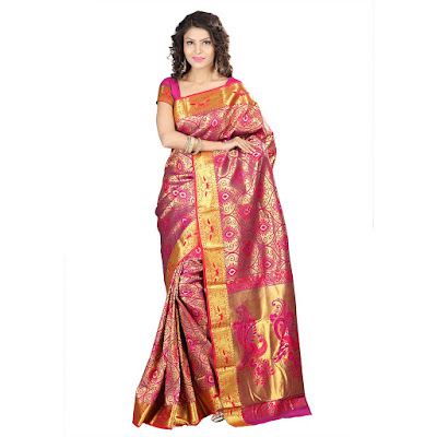 Buy Silk Sarees, Kanchipuram silk sarees, pure silk sarees, Silk Sarees Online, Womens Clothing, womens silk sarees,