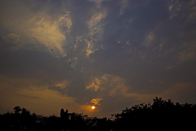 sun rays, clouds, evening, skywatch, sky, bandra, mumbai, incredible india