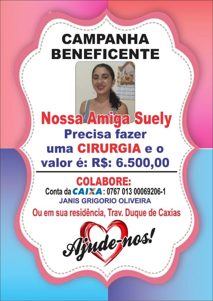 R$1500,00 reais foram doados pelos organizadores do bilhete premiado para ajudar no custeio da cirurgia da Suely que custa R$ 6.500,00.