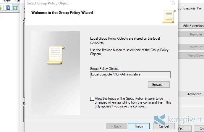 menerapkan settings gpedit ke semua user