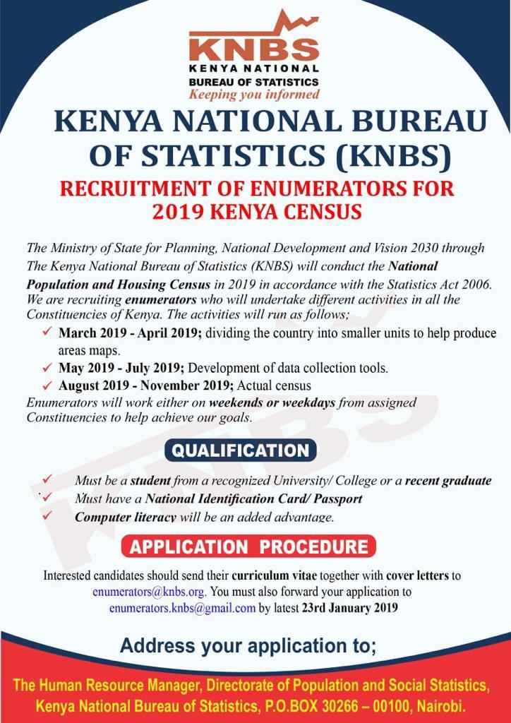 FAKE! Avoid This Kenya Census Job Advertisement