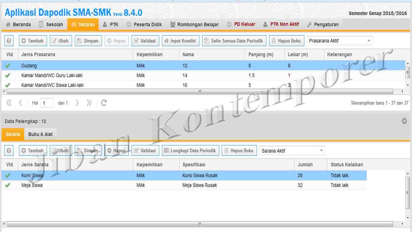 Mengentri Data Sarana dan Prasarana di Aplikasi Dapodik