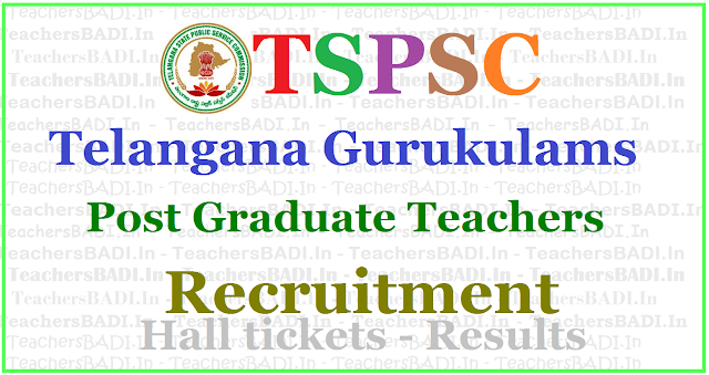 TSPSC Gurukulam PGTs Recruitment 2017, Apply online,hall tickets, results