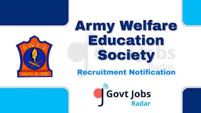 AWES recruitment notification 2019, govt jobs for degree, govt jobs for b.ed, govt jobs in India, central govt jobs