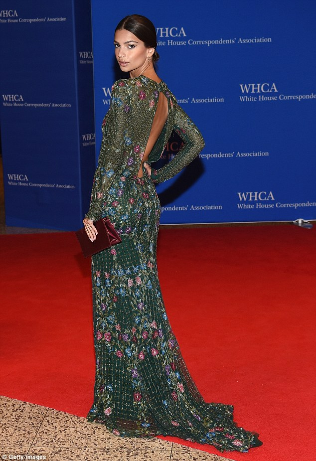 Emily Ratajkowski wears semi sheer dress to the White House Correspondents' Dinner