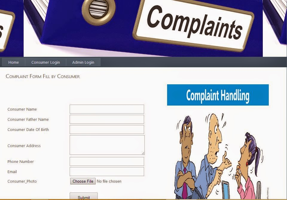 Complaints Management Project in ASP.NET