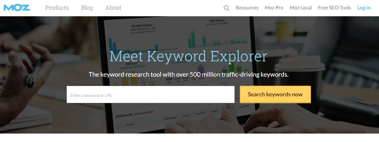 moz keyword explorar
