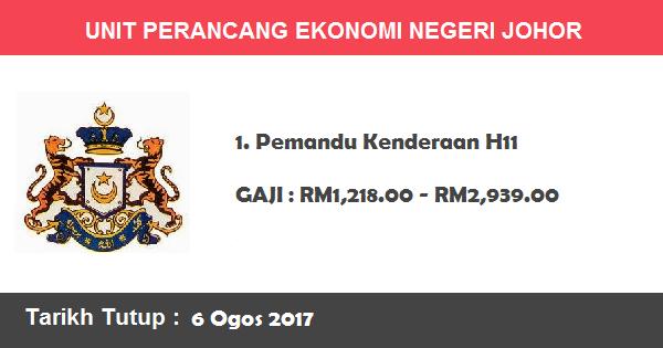 Jawatan Kosong di Unit Perancang Ekonomi Negeri Johor (UPENJ)
