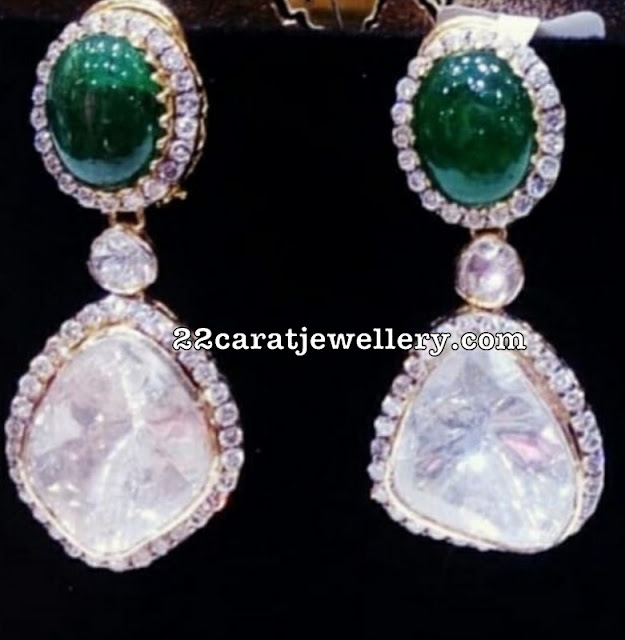 Exclusive Polki Diamond Earrings