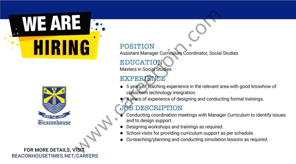 Beaconhouse Group Jobs 2021 in Pakistan