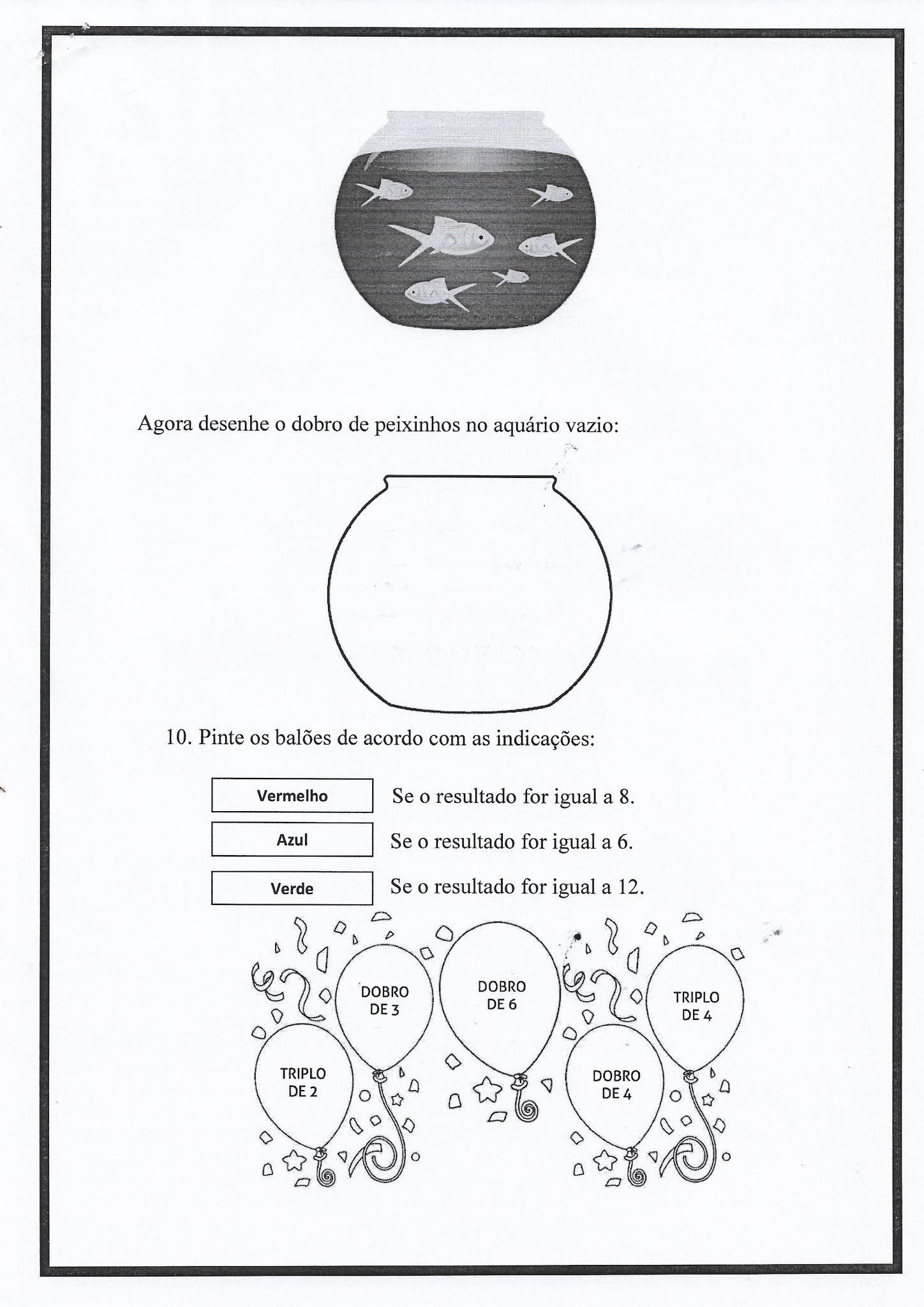 Atividade de Matemática: multiplicação - Ensino Fundamental