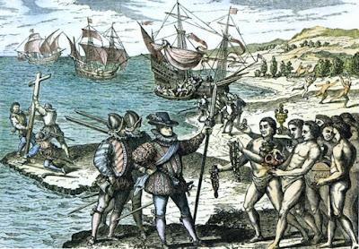 Llegada de Cristobal Colón a América