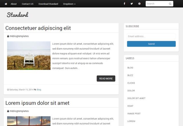 Bootstrap Blogger Templates