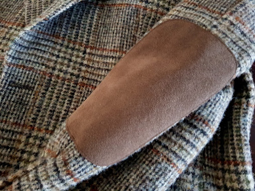 Harris Tweed by Barutti - Prince of Wales check - Suede elbow patch