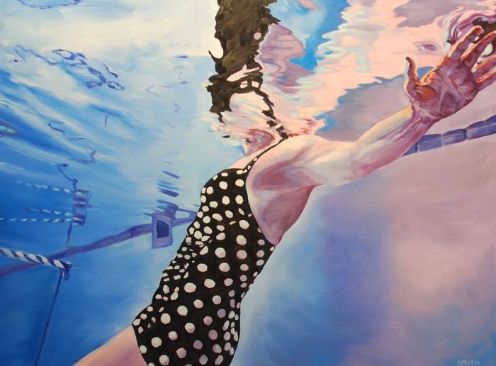 Картины женских фигур в воде. Vicki Smith 3