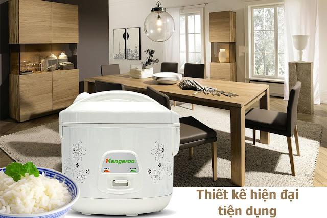 Review, đánh giá thực tế nồi cơm điện Kangaroo KG18N