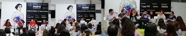 charlas del viernes en el evento literario Lit Con Madrid
