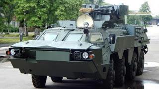 Panser Intai Amfibi BTR-4M Bucephalus TNI AL