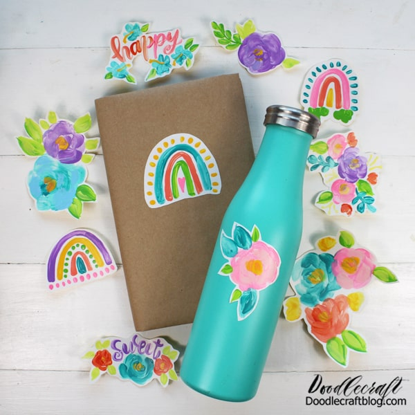 Paint the rainbow in all its varieties or paint bunches of colorful flowers...or get creative and paint anything you can dream of! This craft is highly addictive!