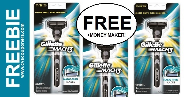 FREE Gillette Mach3 Men's Razor CVS Deals