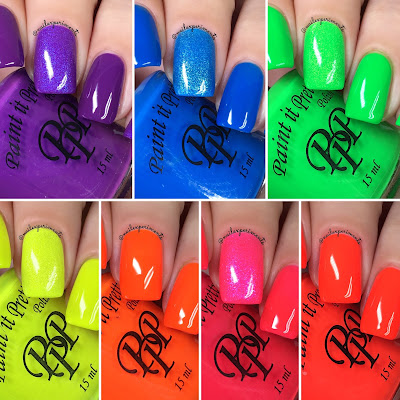 paint it pretty polish tetris neon swatches