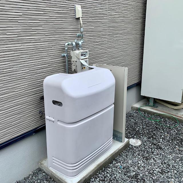 プロパンガス:オール電化住宅の新築物件にガス衣類乾燥機を設置とガス供給設備を設置しました。