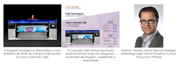 Canon Colorado 1650 alcança resultados impressionantes em teste de campo da Keypoint Intelligence