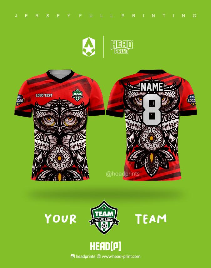 Your Team Logo Jersey Full Printing Custom - Jersey Satuan Jogja