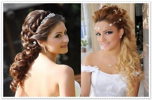 Natürliche und romantische Brautfrisuren