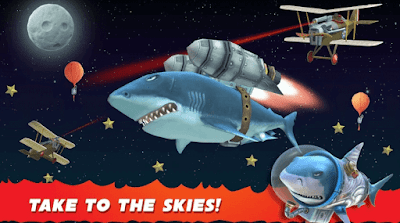 تحميل لعبة سمك القرش الجائع Hungry Shark Evolution v6.5