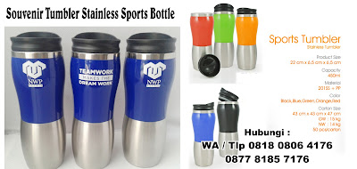 tumbler stainless, Botol minum tumbler promosi type Sport kapasitas 450ml, Tumbler Stainless, botol stainless, Souvenir Tumbler Stainless Promosi, Aluminium Tumbler, Stainless Steel Thermal Tumbler, Mug Sport / Tumbler Sport