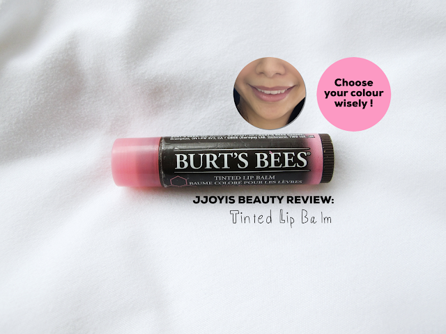 review burts bee tinted lip balm pink blossom jjoyis sg beauty blog