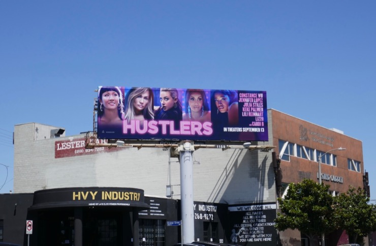 Hustlers movie billboard