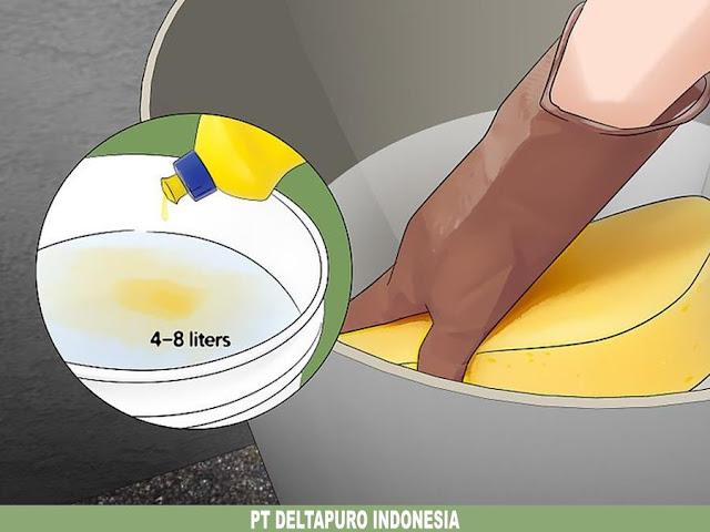 Gosok dengan air sabun