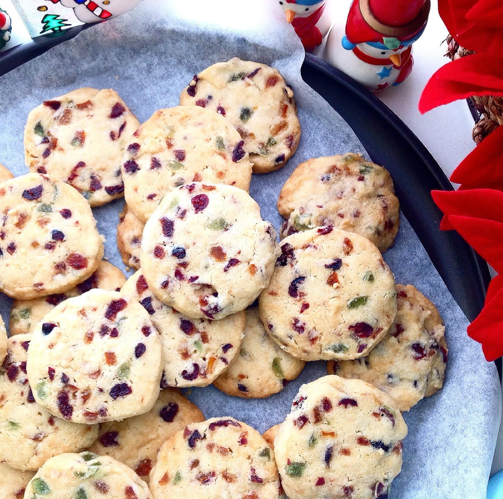 Cherry Amp Orange Peel Christmas Shortbread Cookies
