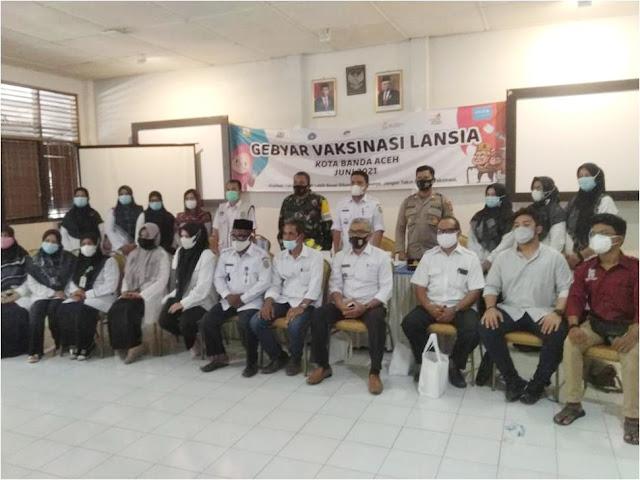 Koramil 13/Kuta Alam Siap Dukung Pengamanan Giat Gebyar Vaksinasi Lansia di Wilayah