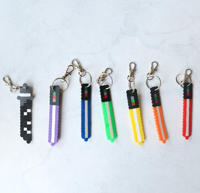 light saber key chain perler beads