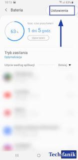 Samsung Galaxy S9+ Pielęgnacja Urządzenia Bateria Ustawienia