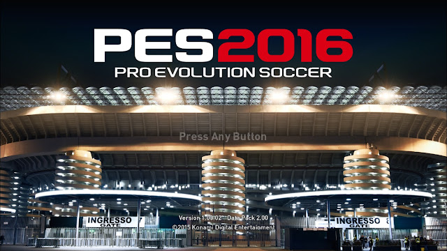 PES 2016 Crack Online 1.03.02 FIX Update 18/02/2016