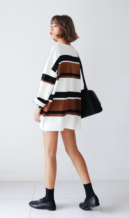 Striped Minimal Knit Dress